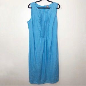 J. Jill Sleeveless Linen Pleated Maxi Dress